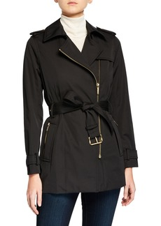 MICHAEL Michael Kors Zip-Front Trench Jacket