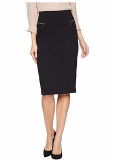 MICHAEL Michael Kors Zip Ponte Long Pencil Skirt