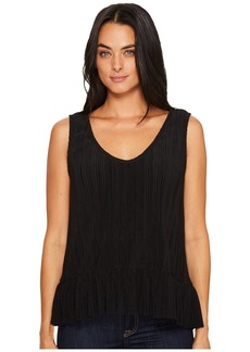 Michael Stars Accordian Scoop Neck Flounce Tank Top