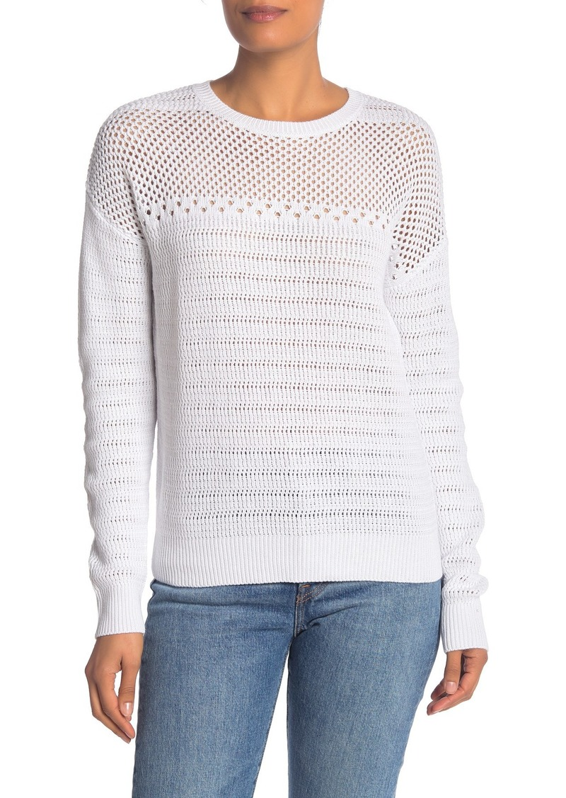 Michael Stars Arden Open Stitch Crew Neck Sweater