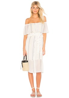 Beach Stripe Ruffle Dress