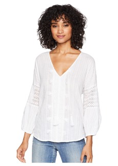 Michael Stars Braided Stripe with Lace Boho Top