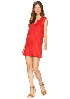 Michael Stars Braided Stripe with Lace Mix Shift Dress