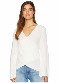 Michael Stars Cashmere Blend Front-To-Back Cross Back Pullover