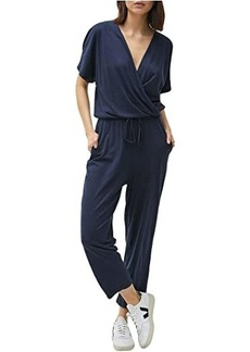 Michael Stars Chelan Cotton Modal Short Sleeve Cropped Jumpsuit