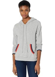 Michael Stars Cody Madison Brushed Jersey Hoodie w/ Contrast Double Binding