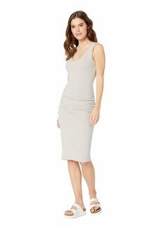 Michael Stars Cora Pebble Knit Sleeveless Ruched Dress