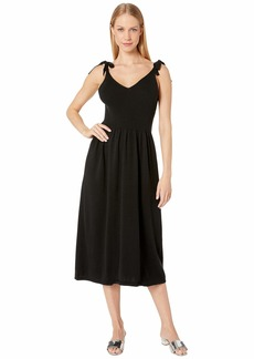 Michael Stars Cotton Knits Maria Ribbed Knit Dress with Tie Straps