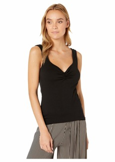 Michael Stars Cotton Lycra Aria Cinched Front Tank
