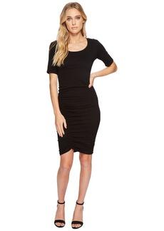 Michael Stars Cotton Lycra® Elbow Sleeve Scoop Neck Dress