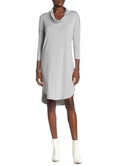 Michael Stars Cowl Neck 3/4 Length Sleeve Dress