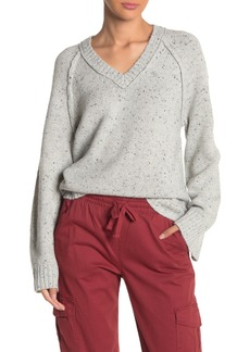 Michael Stars Curved Hem Long Sleeve Slouchy Sweater