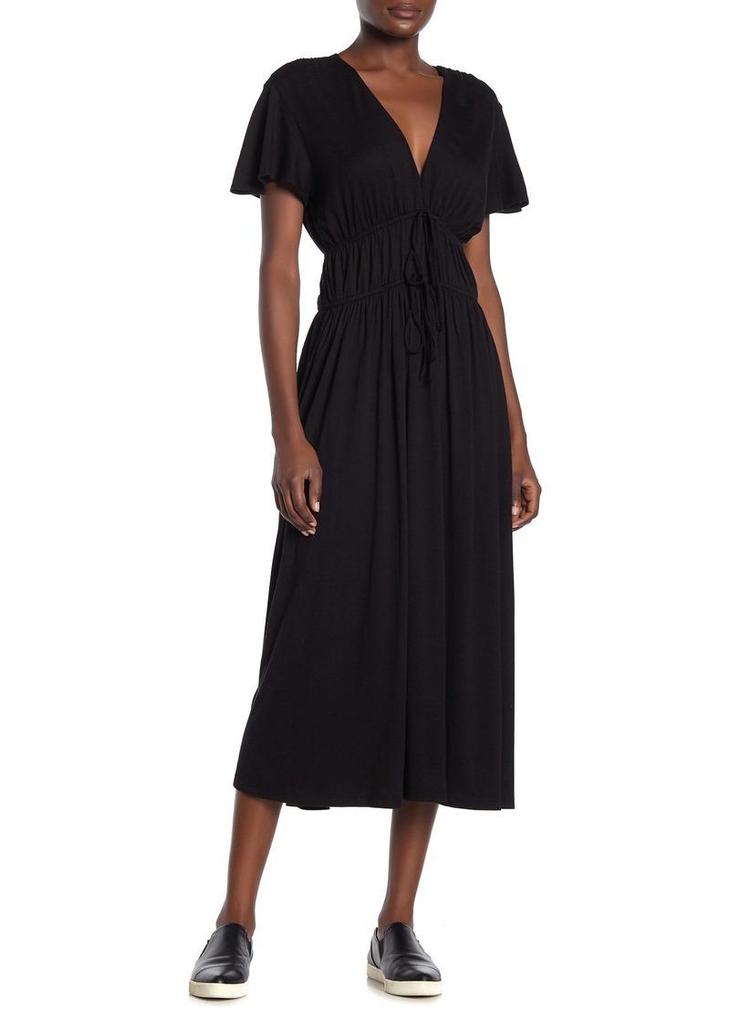 Michael Stars Dhalia Tie Front Midi Dress