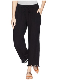 Michael Stars Double Gauze Pull-On Pant with Tassels