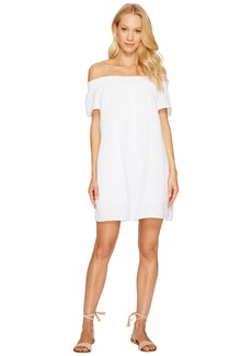 Michael Stars Double Gauze Smocked Off Shoulder Dress