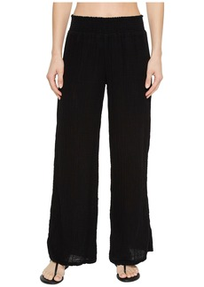Michael Stars Double Gauze Smocked Wide Leg Pant