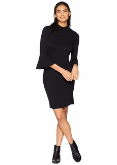 Michael Stars Elevated French Terry Bell Sleeve Dress