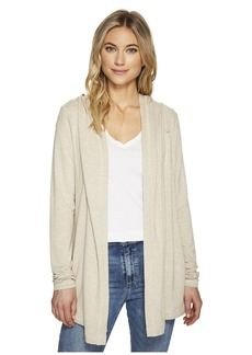 Michael Stars Elevated French Terry Hooded Jacket with Thumbholes