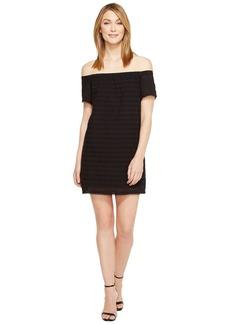 Eyelet Off the Shoulder Dress
