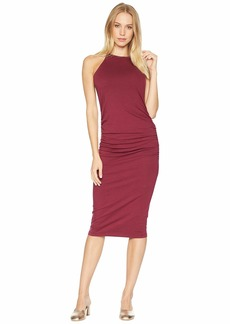 Michael Stars Halter Midi Dress w/ Shirring
