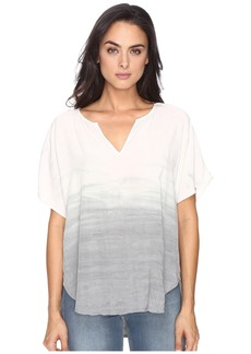 Michael Stars Haze Wash Modern Rayon Peasant Top