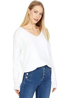 Michael Stars Ivory Pullover Cotton Sweater w/ Side Slits
