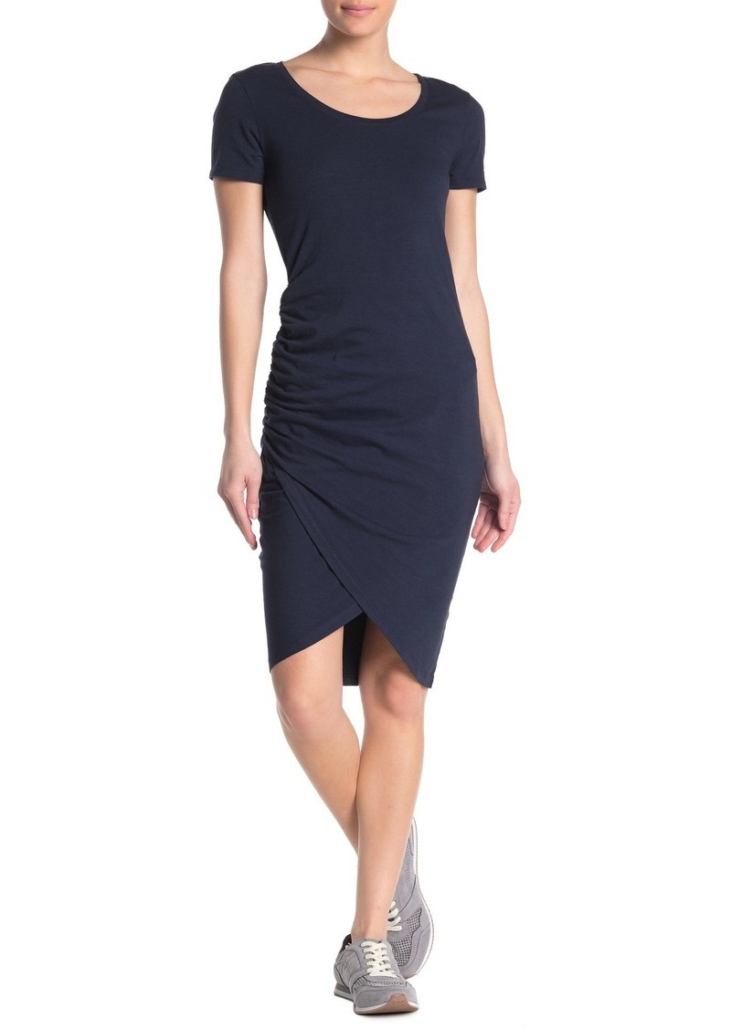 Michael Stars Kimber Ruched Scoop Neck Midi Dress