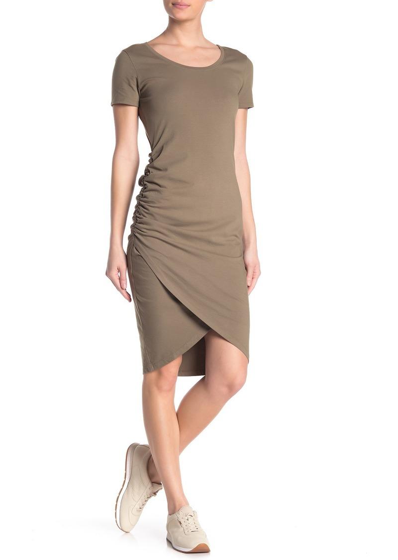 Michael Stars Kimber Ruched Scoop Neck Midi Dress