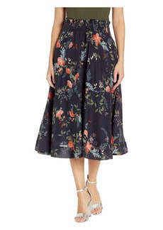 Michael Stars Kinsley Floral Leah Smocked Waist Midi Skirt