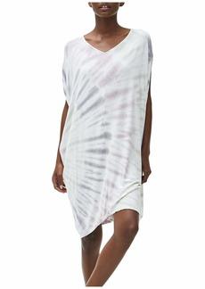 Michael Stars Kita Tie-Dye Firework Wash Cocoon Midi Dress in Luxe Jersey