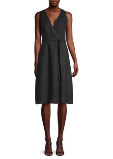 Michael Stars Lenox Linen Wrap Utility Dress
