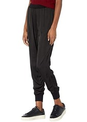 Michael Stars Lidia Satin Knit Mix Relaxed Joggers
