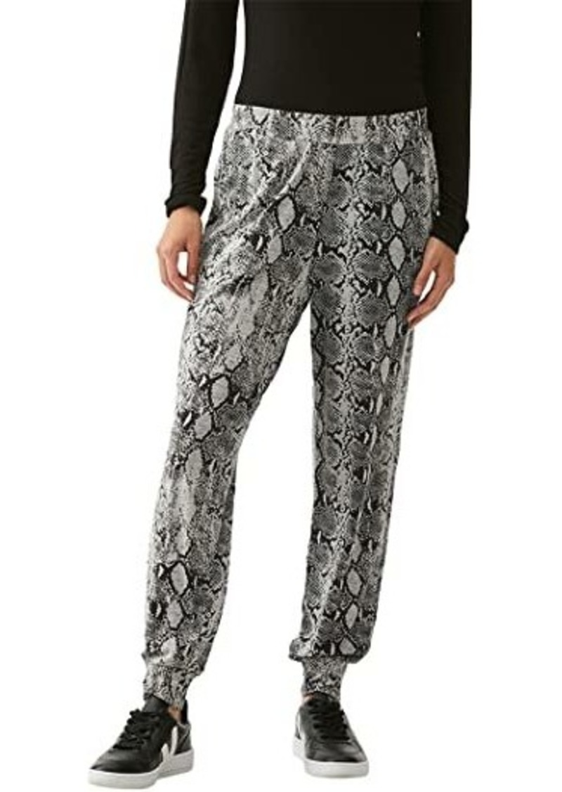 Michael Stars Lidia Snake Print Ultra Jersey Relaxed Joggers