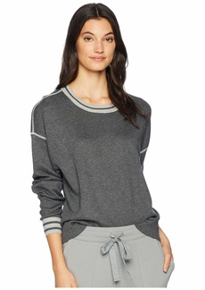 Michael Stars Luxe Cotton Blend Reversible Crew Neck Pullover