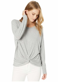 Michael Stars Madison Brushed Jersey Alexa Dolman Sleeve Top with Twist
