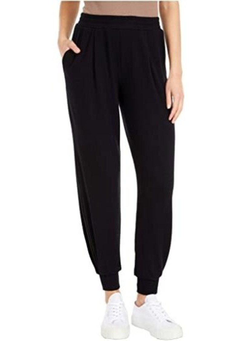 Michael Stars Madison Brushed Jersey Myla Pleated Relaxed Joggers