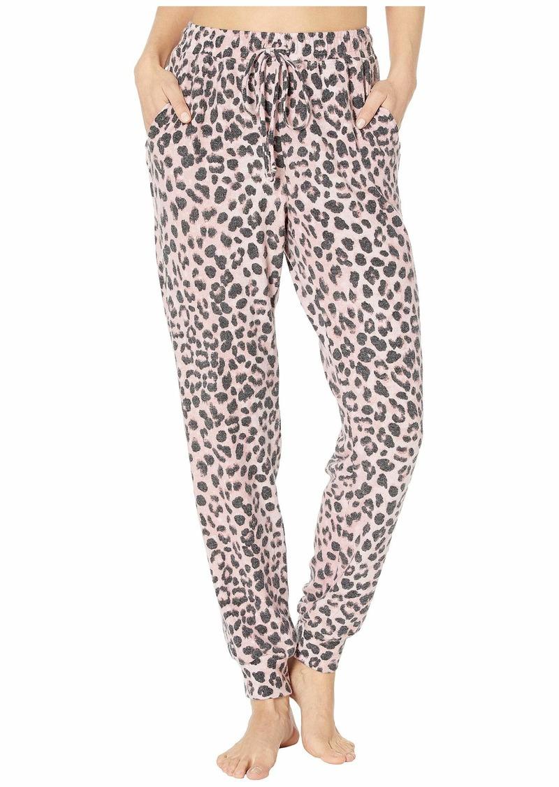 Michael Stars Madison Snow Leopard Jenny Pull-On Pants with Drawstring