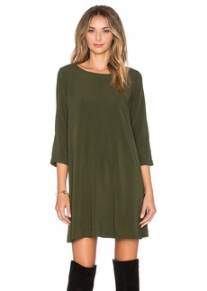 Michael Stars 3/4 Sleeve Crewneck Mini Dress