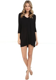 Michael Stars 3/4 Sleeve V-Neck Dress