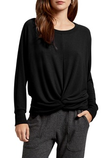 Michael Stars Alexa Madison Twist Front Long Sleeve Top