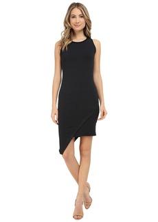 Michael Stars Amalfi Ribbed Stripe Asymmetrical Dress