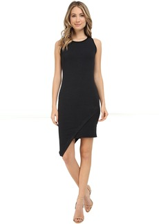 Michael Stars Amalfi Ribbed Stripe Asymmetrical Dress
