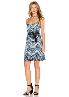 Michael Stars Azure Crepe Print Cami Swing Dress