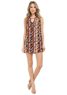 Michael Stars Barcelona Crepe Print Tank Dress