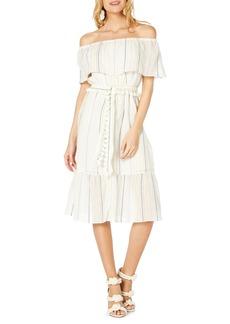 Michael Stars Beach Stripe Off The Shoulder Midi Dress