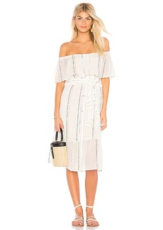 Michael Stars Beach Stripe Ruffle Dress