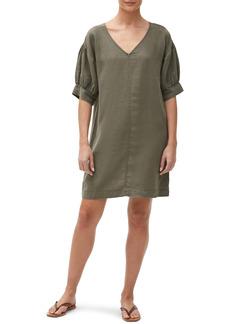 Michael Stars Betty Elbow Sleeve Linen Shift Dress