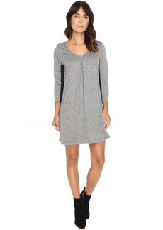 Michael Stars Birdseye Brushed Pique A-Line Mini Dress