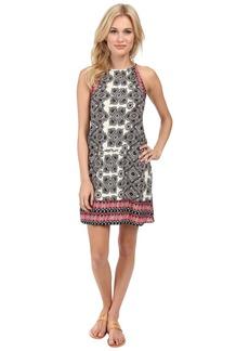 Michael Stars Border Print Halter Dress
