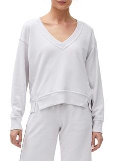 Michael Stars Camila V-Neck Crop Sweatshirt